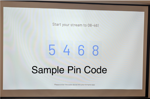 Picture of a sample pin code.